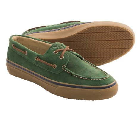 Sperry Top-Sider Bahama SW Shoes (For Men) in Suede Dark Green