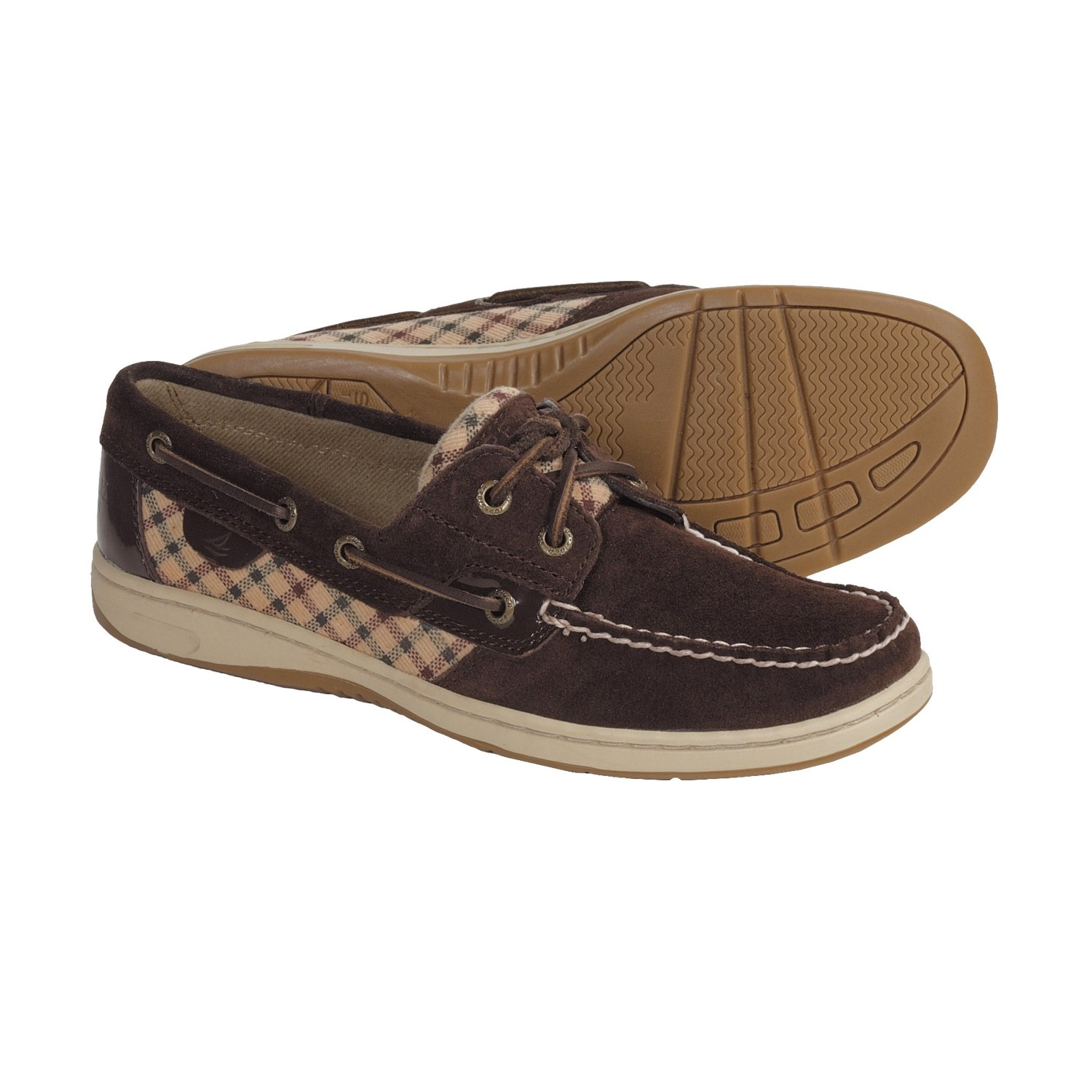 Sperry Top Sider Bluefish Boat Shoes (For Women) in Brown Suede