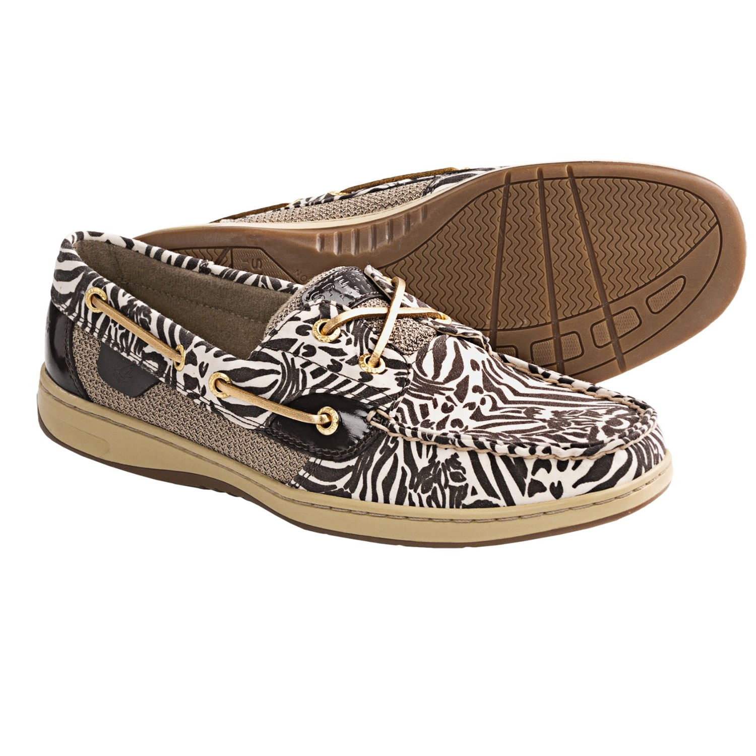 Sperry Top-Sider Bluefish Boat Shoes (For Women) in Dark Brown Zebra