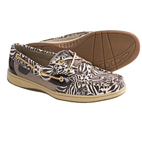 Sperry Top-Sider Bluefish Boat Shoes (For Women) in Dark Brown Zebra Print