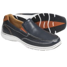Sperry Top-Sider Gold Lux Twin Gore Shoes - Slip-Ons (For Men) in Navy/Orange Pebble - Closeouts