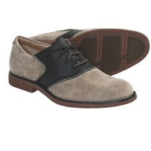 Sperry Top-Sider Jamestown Saddle Oxford Shoes - Suede-Leather (For Men) in Sand Suede/Black - Closeouts