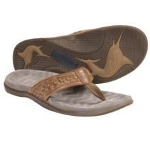 Sperry Top-Sider Largo Sandals - Leather, Flip-Flops (For Men) in Tan - Closeouts