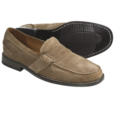 Sperry Top-Sider Leather Penny Loafer Shoes - Gold Cup Collection (For Men) in Sand Suede