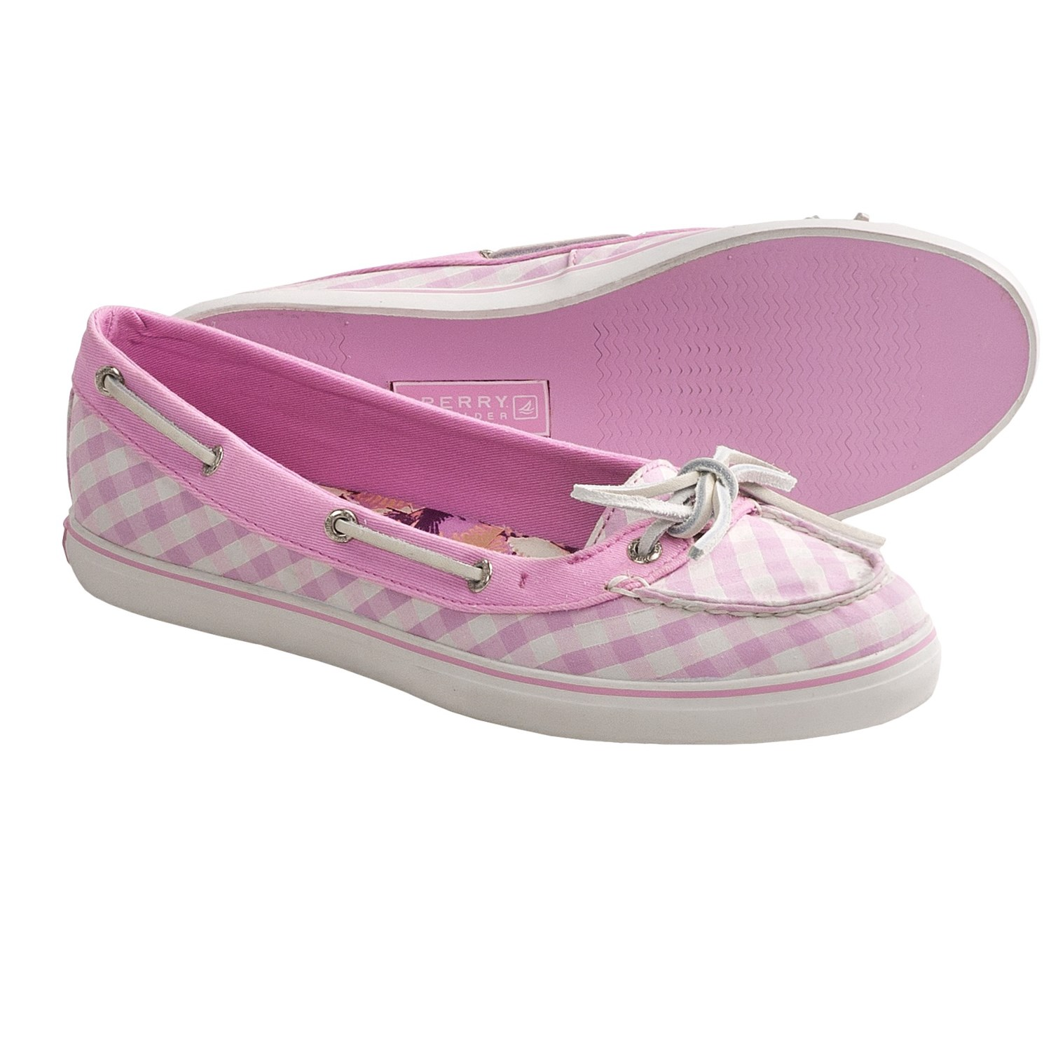Sperry Top-Sider Lola Shoes (For Women) in Pastel Lavender Gingham