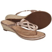 Sperry Top-Sider Lorrain Wedge Sandals (For Women) in Rose Gold Metallic - Closeouts