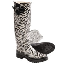 Sperry Top-Sider Pelican Too Rain Boots - Waterproof (For Women) in Black/White Zebra - Closeouts