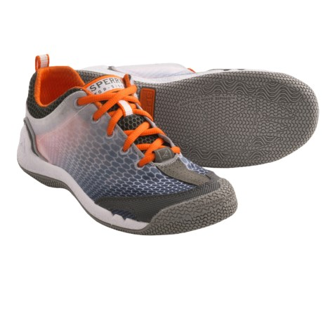Sperry Top-Sider SeaRacer Sneakers (For Women) in Grey/Orange/White