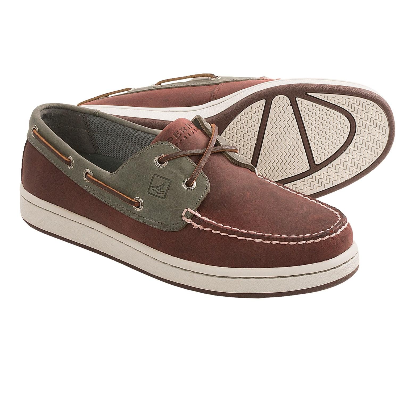 Men S Billfish  Eye Boat Shoe Dark Tan