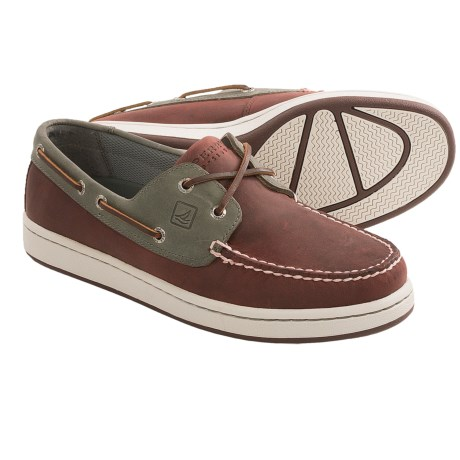 Sperry Top-Sider Sperry Cup 2-Eye Boat Shoes (For Men) in Oxblood/Grey