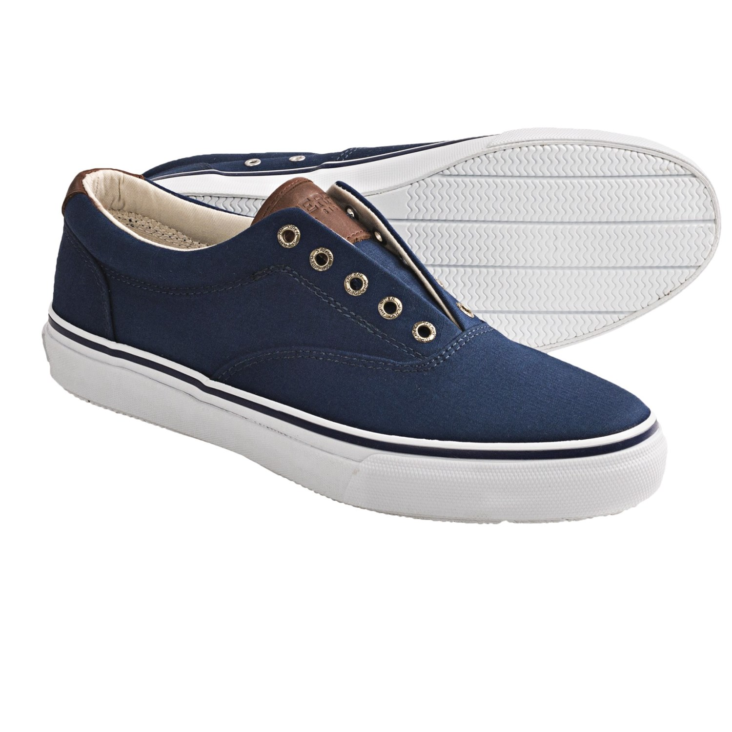 sperry top sider striper canvas shoes laceless for