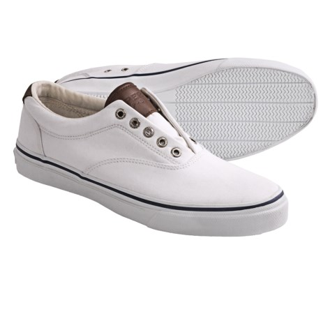 Sperry Top-Sider Striper Canvas Shoes - Laceless (For Men) in White