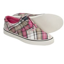 Sperry Top-Sider Striper Shoes - Slip-Ons (For Women) in Sand Plaid - Closeouts