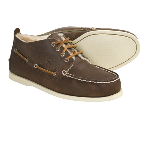 Sperry Top-Sider Winter Authentic Original Chukka Boots - Leather, Shearling-Lined (For Men) in Brown