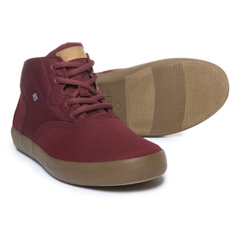 Sperry Wahoo Mid Sneakers (For Boys) in Brick Red