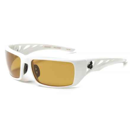 Spiderwire Arachno Sunglasses - Polarized (For Men) in Gloss White/Amber - Closeouts