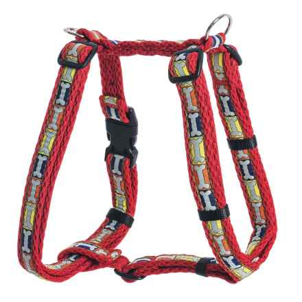 Spiffy Dog Air Dog Harness - Large in Red Bones - Closeouts