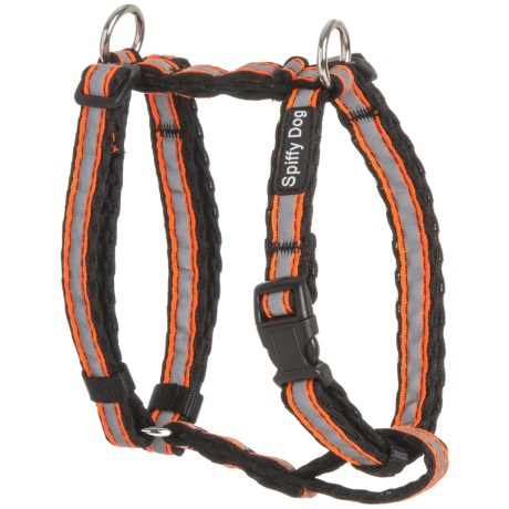 Spiffy Dog Air Dog Harness - Small in Black Orange Reflective