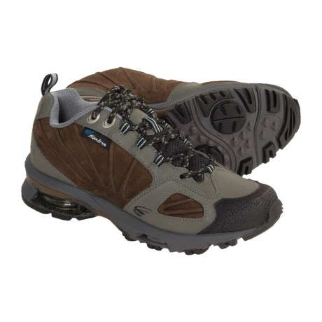 Spira Azimuth Low Hiking Shoes - Leather (For Women) in Metal/Brown/Sky