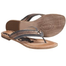 Spirit by Lucchese Cali Sandals - Flip-Flops, Leather (For Women) in Gold - Closeouts