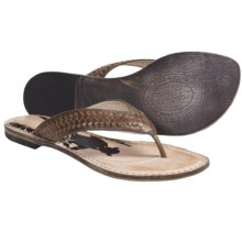 Spirit by Lucchese Cali Sandals - Flip-Flops, Leather (For Women) in Medium Brown - Closeouts