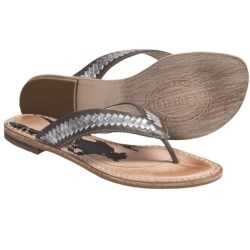 Spirit by Lucchese Cali Sandals - Flip-Flops, Leather (For Women) in Silver