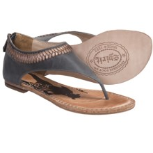 Spirit by Lucchese Carly Sandals - Back Zip, Leather (For Women) in Gold - Closeouts
