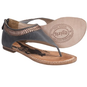 Spirit by Lucchese Carly Sandals - Back Zip, Leather (For Women) in Gold