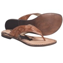 Spirit by Lucchese Sasha Sandals - Flip-Flops, Leather (For Women) in Amber - Closeouts