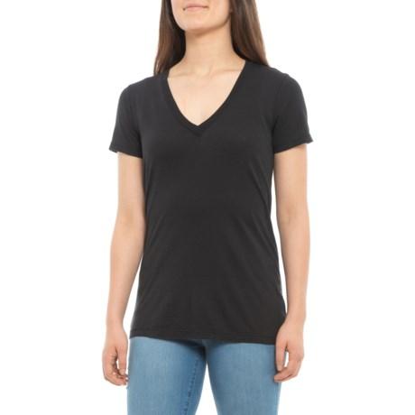 0fba0a2fcbb Splendid Contemporary Light Jersey V-Neck Shirt - Short Sleeve (For Women)  in