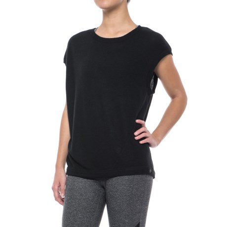 Splendid Convertible Shirt - Short Sleeve (For Women) in Black