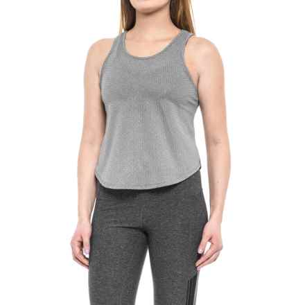 Splendid Core Mesh 2-Fer Tank Top (For Women) in Black - Closeouts