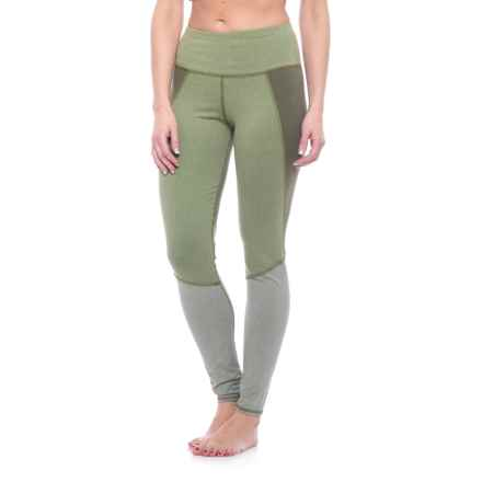 Splendid High-Waist Heather Blocked Leggings (For Women) in Heather Amry - Closeouts