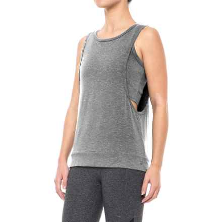 Splendid Layered Tank Top - Sleeveless (For Women) in Marled Black - Closeouts
