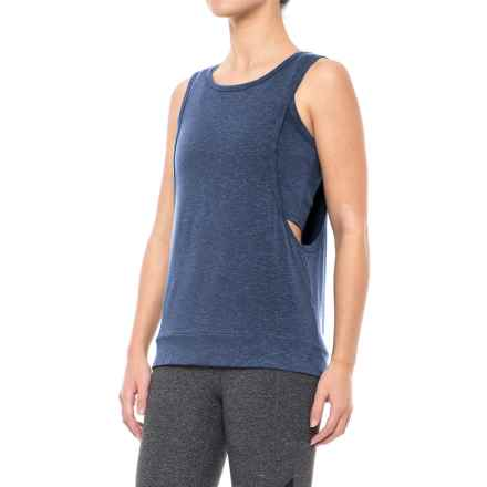 Splendid Layered Tank Top - Sleeveless (For Women) in Marled Harbour Blue - Closeouts