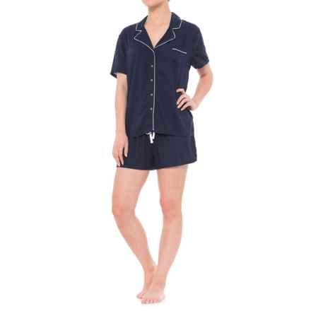 Splendid Rayon Pajamas - Short Sleeve (For Women) in Midnight Navy - Closeouts