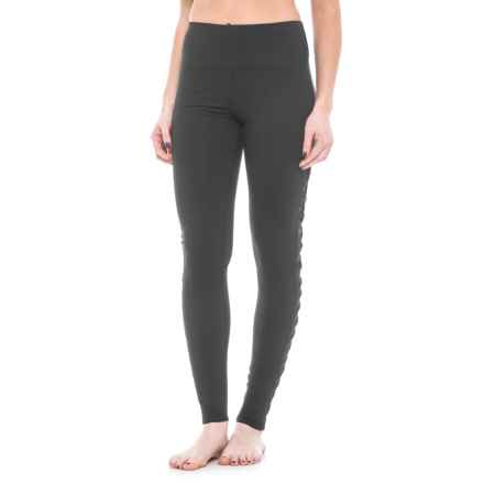 Splendid Twisted Side Panel Leggings (For Women) in Black - Closeouts