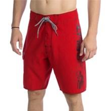 Split Vertigo Boardshorts (For Men) in Red - Closeouts