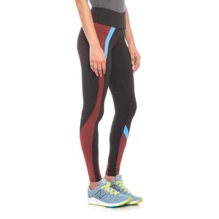 Force Leggings (For Women) in Black/Auburn/Powder Blue - Closeouts