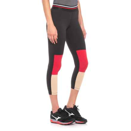 Racer Capris (For Women) in Black/Red/Khaki - Closeouts
