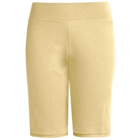 Spooney Wear Ever Bermuda Shorts (For Women) in Lemon