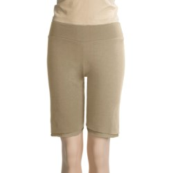 Spooney Wear Ever Bermuda Shorts (For Women) in Cream