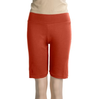 Spooney Wear Ever Bermuda Shorts (For Women) in Tomato Red
