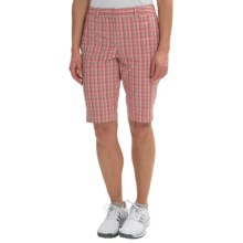 Sport Haley Elizabeth Plaid Golf Shorts (For Women) in Pink Champagne - Closeouts