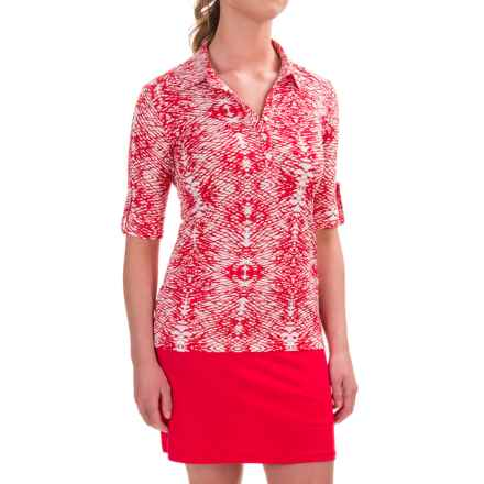 Sport Haley Lindsey Shirt - UPF 30+, Short Sleeve (For Women) in Cambridge Red - Closeouts