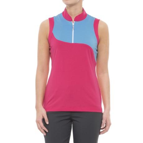 Sport Haley Reflection Adis Golf Polo Shirt - Zip Neck, Sleeveless (For Women) in Pink Diamond