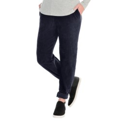 Sport Knit Corduroy Pants - Elastic Waist (For Plus Size Women) in Navy