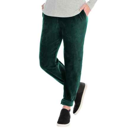 Sport Knit Corduroy Pants - Elastic Waist (For Women) in Forest - 2nds