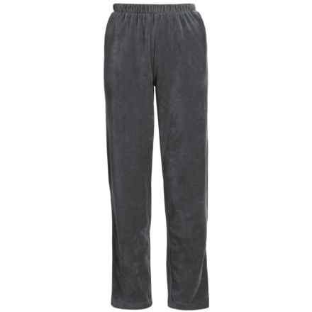Sport Knit Corduroy Pants - Elastic Waist (For Women) in Steel Grey - 2nds