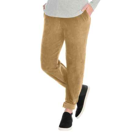 Sport Knit Corduroy Pants - Elastic Waist (For Women) in Tan - 2nds